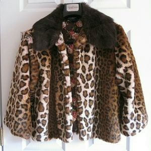 Betsey Johnson Leopard Fur Coat 🐅